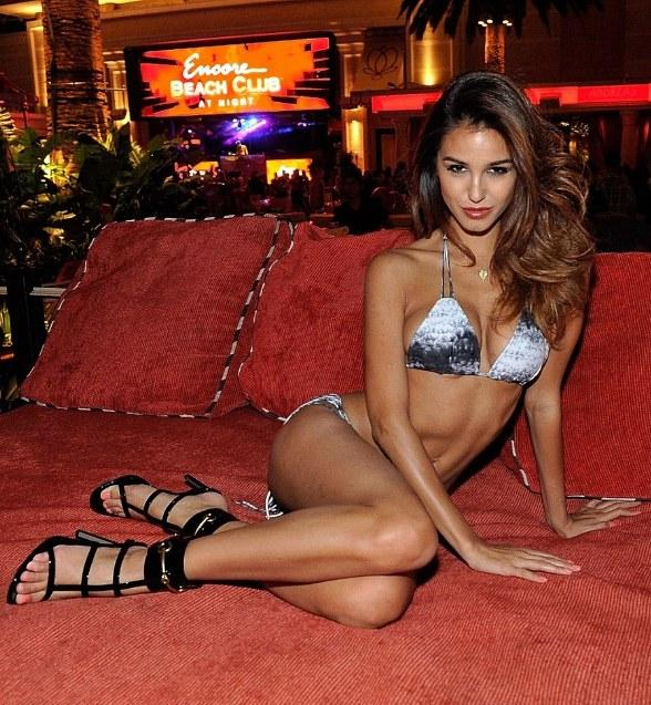 "Supermodel Ashley Sky Hosts ""Encore Beach Club at Night"" Launch"