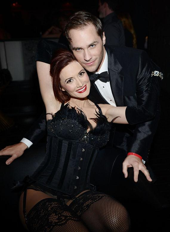 Holly Madison with Josh Strikland at 1923 Bourbon & Burlesque