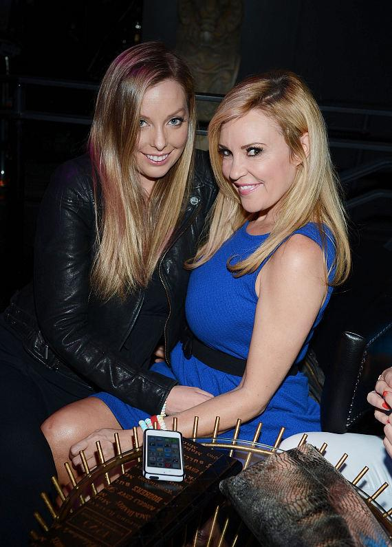 Ashley Matthau and Bridget Marquardt attend 1923 Bourbon & Burlesque grand opening at Mandalay Bay