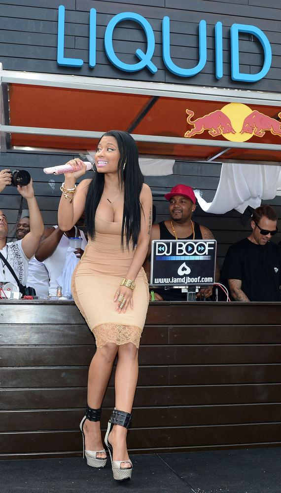 Nicki Minaj performs at LIQUID Pool Lounge at ARIA in Las Vegas