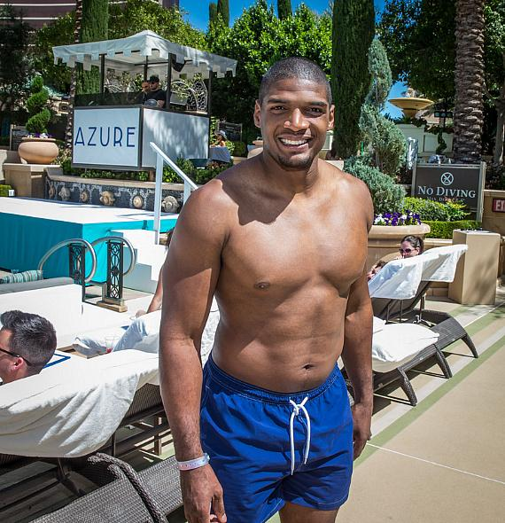 Michael Sam at Azure Luxury Pool at The Palazzo Las Vegas