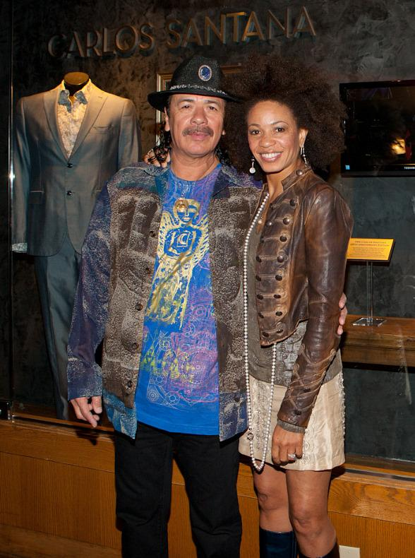 Carlos Santana and wife Cindy Blackman