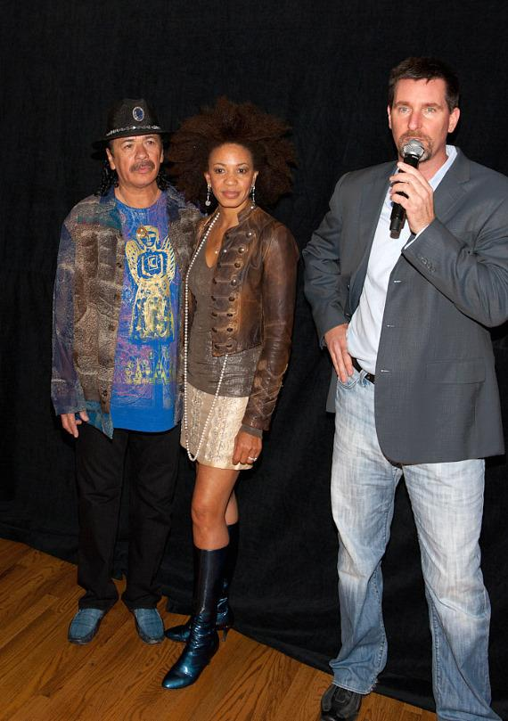 Carlos Santana, Cindy Blackman and Paul Davis of Hard Rock Hotel