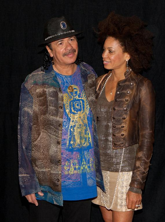 Carlos Santana and Cindy Blackman Santana