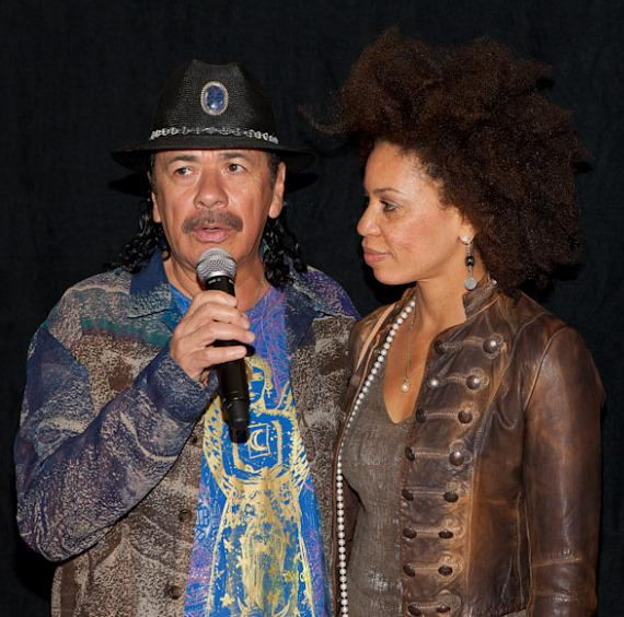 Carlos Santana and wife Cindy Blackman Santana