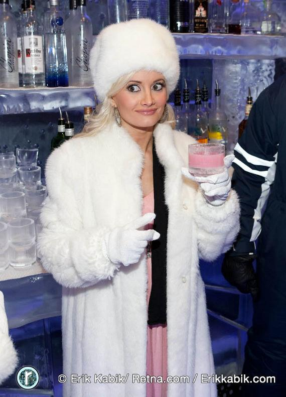 Holly Madison at Minus5 Ice Lounge