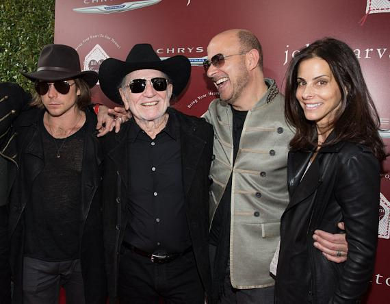 Micah Nelson, Willie Nelson, John Varvatos and Joyce Varvatos