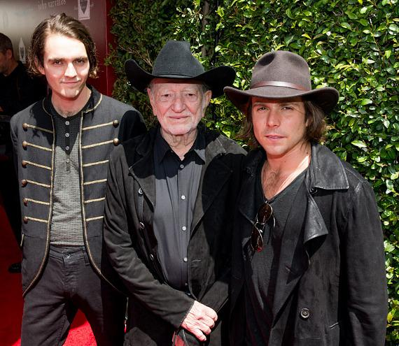 Lucas Nelson, Willie Nelson and Micah Nelson