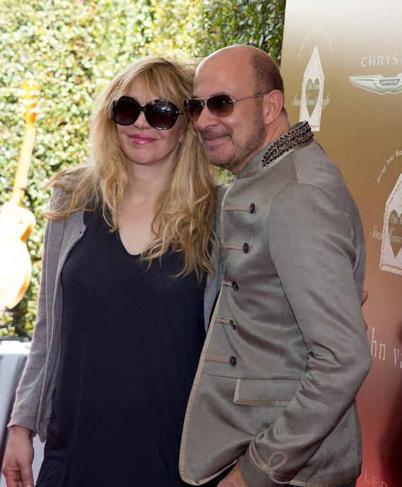 Courtney Love and John Varvatos