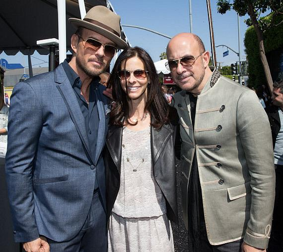 Matt Goss, Joyce Varvatos and John Varvatos