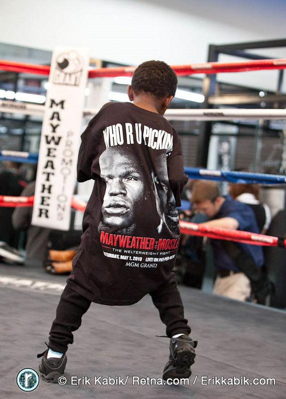 5 year old LehKei Mayweather, son of Roger Mayweather