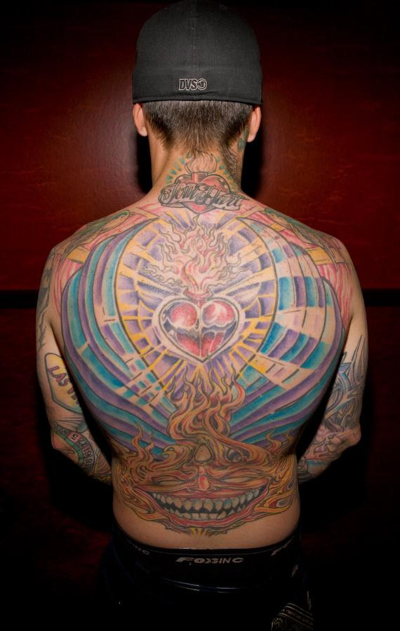 I love Avenged Sevenfold! Carey Hart and Hart and Huntington Tattoo in Hard Rock Hotel