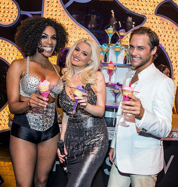 Cheaza, Holly Madison and Josh Strickland at PEEPSHOW three year anniversary