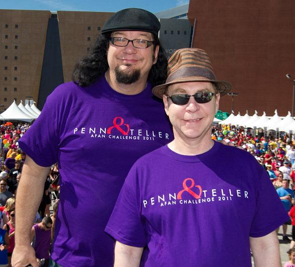Penn & Teller: Grand Marshals and Leaders of Penn & Teller Challenge AIDS Walk Team Today for AFAN 21st Aids Walk