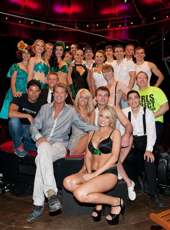 Holly's World Co-Star Angel Porrino Debuts in Absinthe; David Hasselhoff Visits
