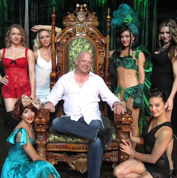 Pawn Stars' Rick Harrison with the ladies of ABSINTHE at Caesars