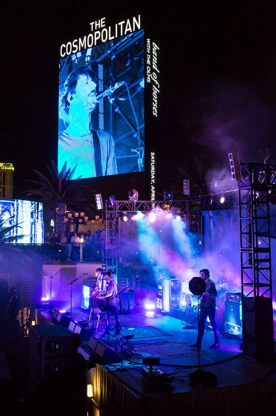 Band of Horses performs at the Boulevard Pool at The Cosmopolitan of Las Vegas