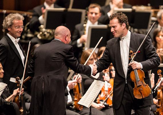 Franz Welser-Möst and Nikolaj Znaider with The Cleveland Orchestra at The Smith Center for Performing Arts in Las Vegas