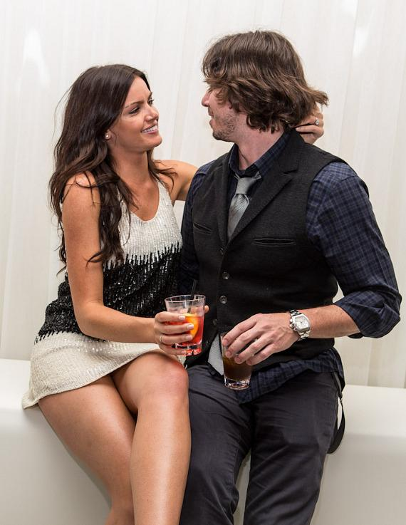 """Ben Flajnik and Courtney Robertson of """"The Bachelor"""" at PURE Nightclub"""