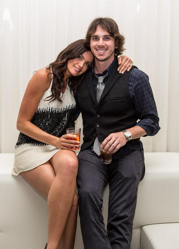 "Ben Flajnik and Courtney Robertson of ""The Bachelor"" Party at PURE Nightclub in Las Vegas"