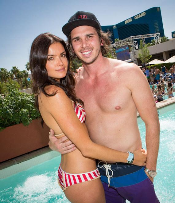 "Ben Flajnik and Courtney Robertson of ""The Bachelor"" at WET REPUBLIC in Las Vegas"