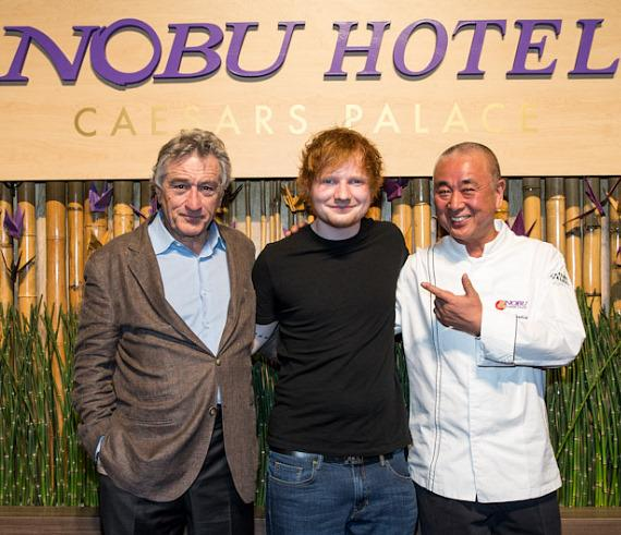 Robert De Niro, Ed Sheeren and Chef Nobu Matsuhisa