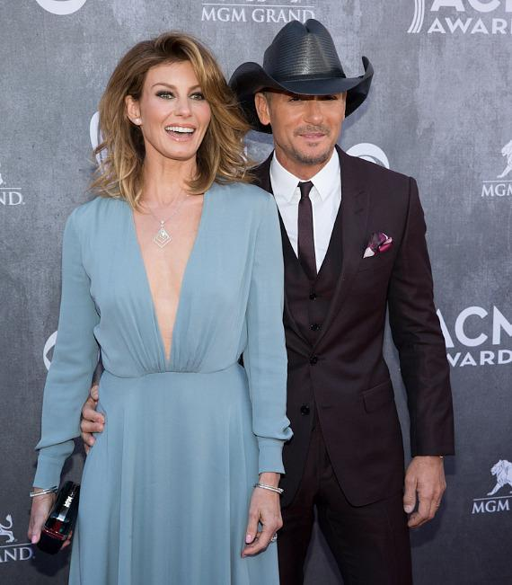 Faith Hill and Tim McGraw at 49th ACM Awards in Las Vegas