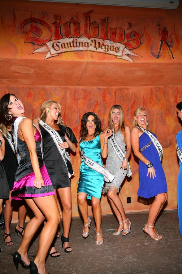 Miss USA contestants party at Diablo's Cantina