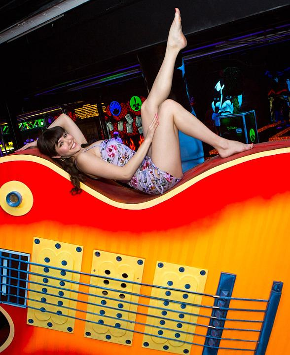 Claire Sinclair Visits KISS Monster Mini Golf in Las Vegas