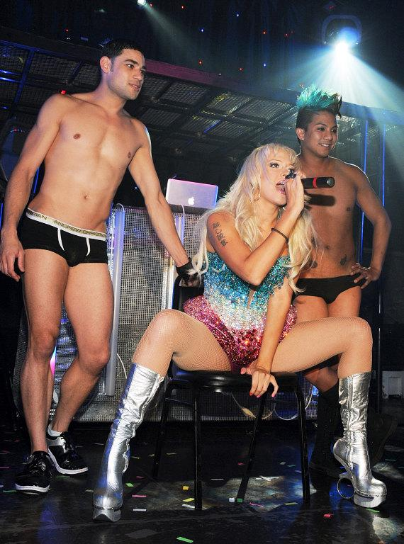 Former Pussycat Doll Kaya Jones with Krave dancers