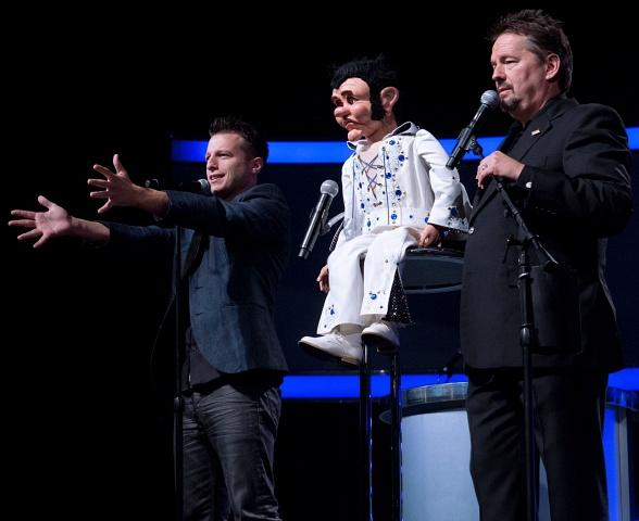 Mat Franco, winner of America's Got Talent, joins Terry Fator on stage