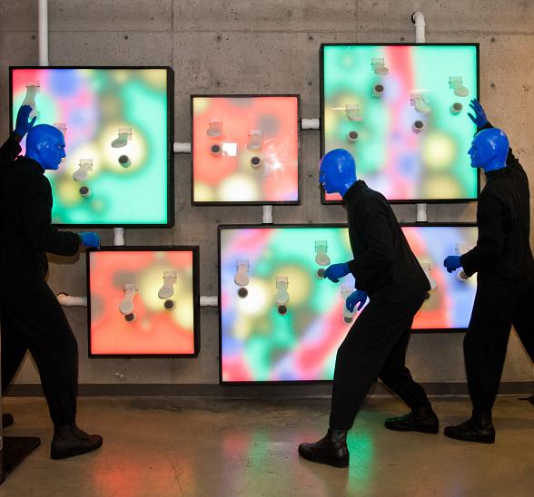 "Blue Man Group Presents First Glimpse of ""ShoeZaphone"" Art Installation at Zappos"