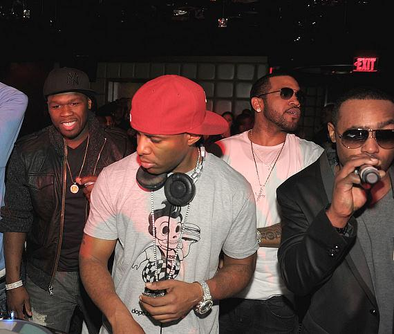 50 Cent, DJ Lloyd Banks and Jeremih at Marquee Las Vegas