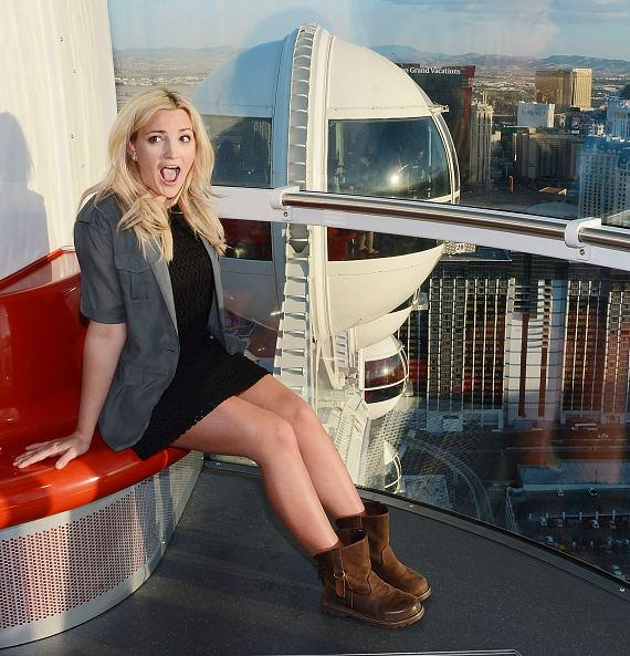Jamie Lynn Spears inside the High Roller at The LINQ in Las Vegas