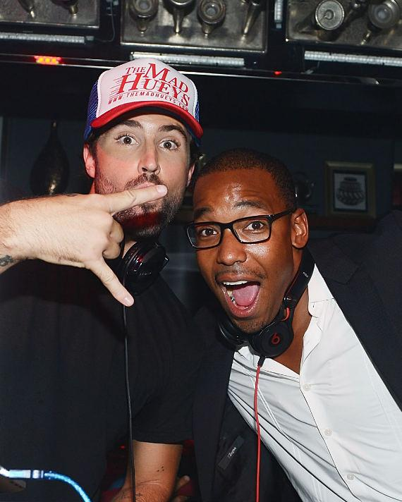 Brody Jenner (L) and DJ William Lifestyle at Hyde Bellagio