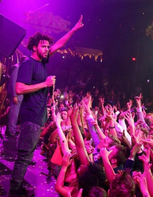 J. Cole performs at LIGHT Nightclub on New Year's Eve
