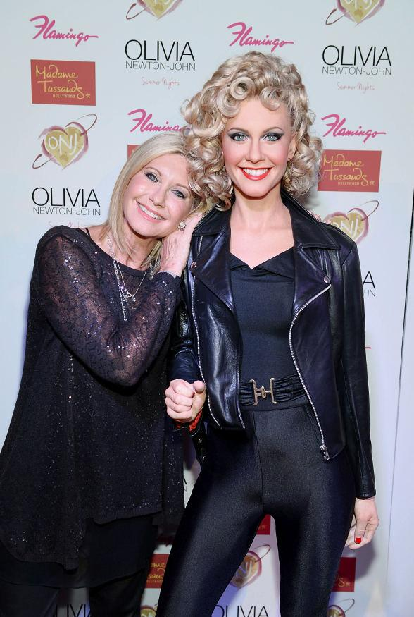 Olivia Newton-John Unveils New Madame Tussauds Hollywood Wax Figure at The Flamingo Las Vegas