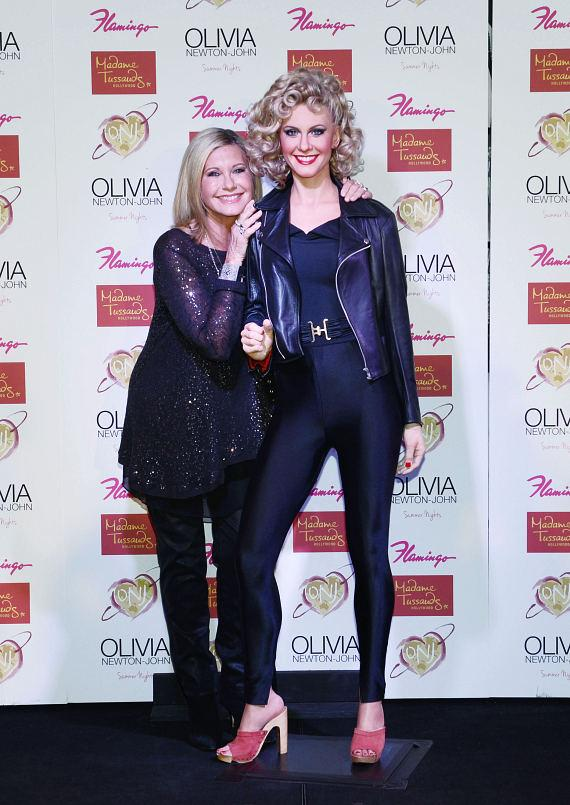 Olivia Newton-John with new Madame Tussauds Hollywood Wax Figure at The Flamingo Las Vegas