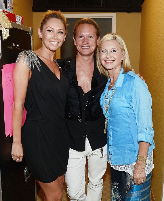 Kym Johnson and Carson Kressley with  Olivia Newton-John