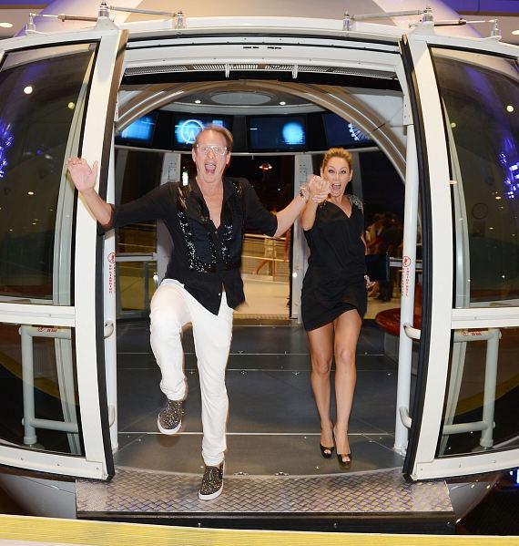 Carson Kressley and Kym Johnson exit The High Roller at The LINQ in Las Vegas