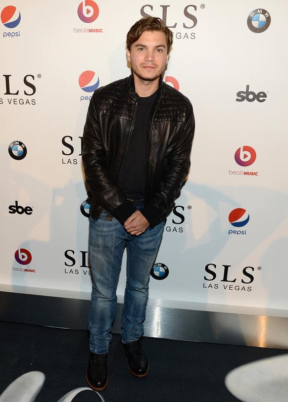Actor Emile Hirsch attends the SLS Las Vegas grand opening celebration