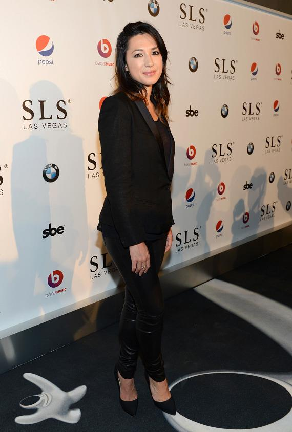 Singer/songwriter Michelle Branch attends the SLS Las Vegas grand opening celebration