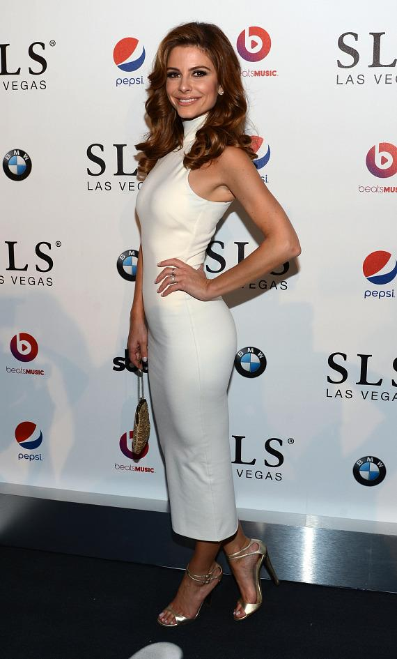 TV personality Maria Menounos attends the SLS Las Vegas grand opening celebration