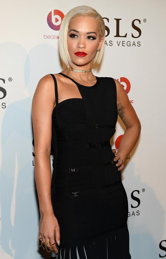 Recording artist Rita Ora attends the SLS Las Vegas grand opening celebration