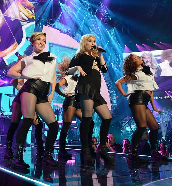 Recording artist Meghan Trainor performs onstage during the 2014 iHeartRadio Music Festival at the MGM Grand Garden Arena