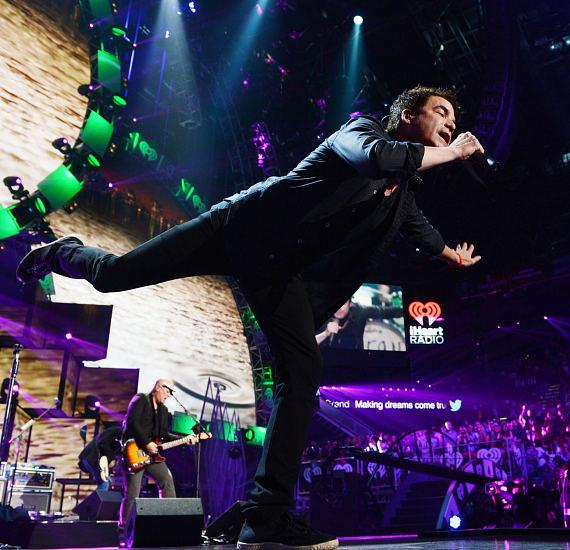 Recording artist Pat Monahan of the music group Train performs onstage during the 2014 iHeartRadio Music Festival at the MGM Grand Garden Arena