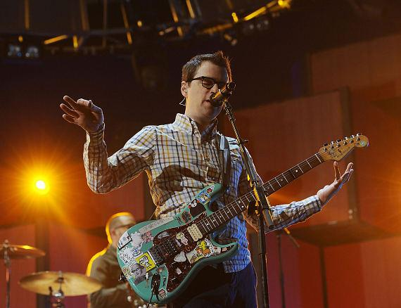 Recording artist Rivers Cuomo of the music group Weezer performs onstage during the 2014 iHeartRadio Music Festival at the MGM Grand Garden Arena