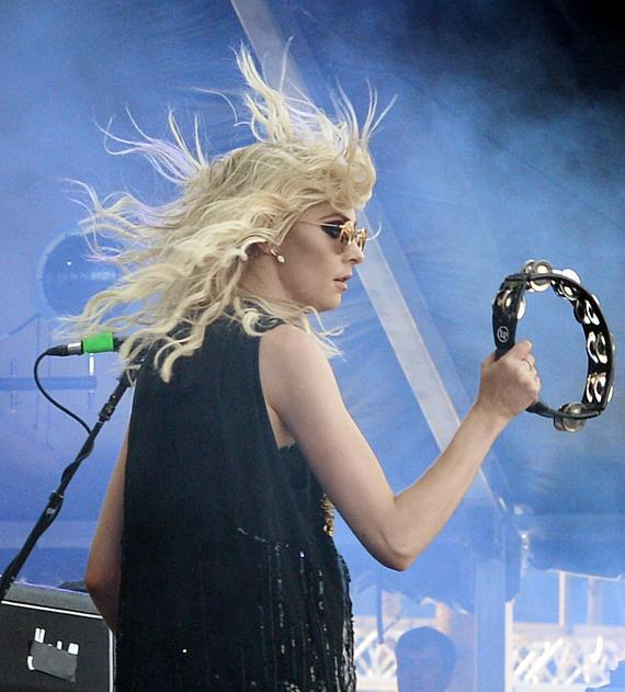 Actress/singer Taylor Momsen of The Pretty Reckless performs onstage during the 2014 iHeartRadio Music Festival Village