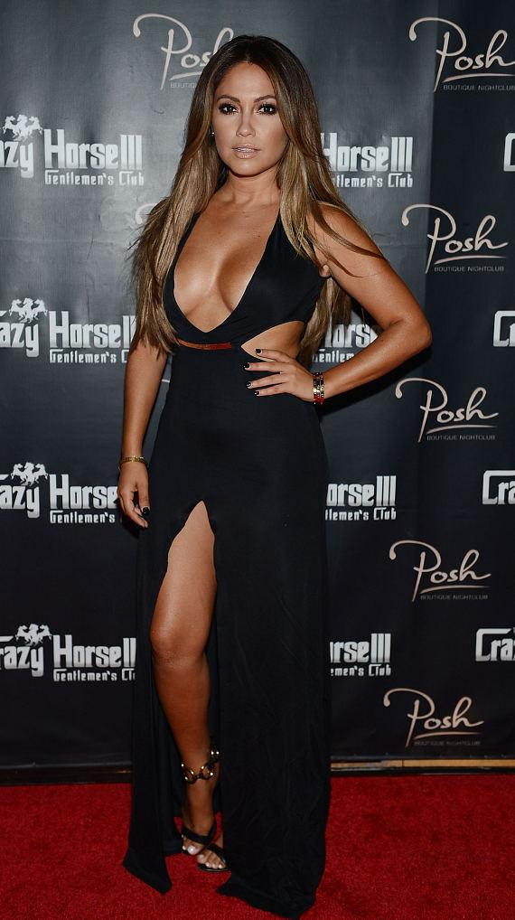Jessica Burciaga arrives at the Mexican Independence Day party at Crazy Horse III