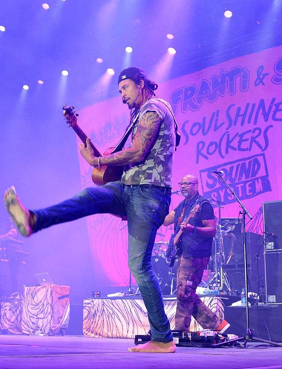 Michael Franti & Spearhead perform during the Ninth Annual Wine Amplified Festival at the MGM Resorts Village on October 10, 2014